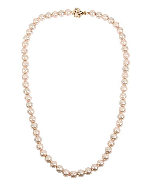 MIRIAM HASKELL 10 mm Pearl Strand Necklace