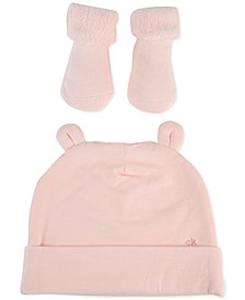 Baby Girls 2-Pc. Hat & Socks Set