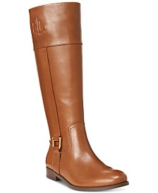 Lauren Ralph Lauren Bernadine Wide-Calf Riding Boots