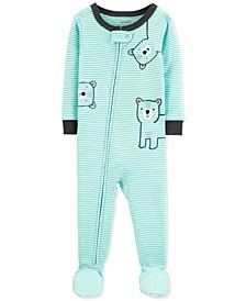 Baby Boys Cotton Footed Bear Pajamas
