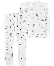Baby Boys 2-Pc. Cotton Printed Pajamas Set