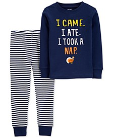 Baby Boys 2-Pc. Cotton Turkey Nap Pajama Set