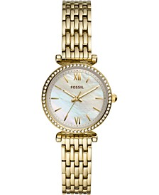 Women's Carlie Mini Gold-Tone Stainless Steel Bracelet Watch 28mm