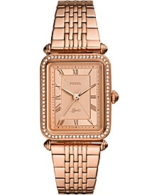 Women's Lyric Rose Gold-Tone Stainless Steel Bracelet Watch 23x28mm