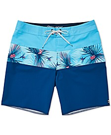 Big Boys Colorblocked Tropical Swim Trunks