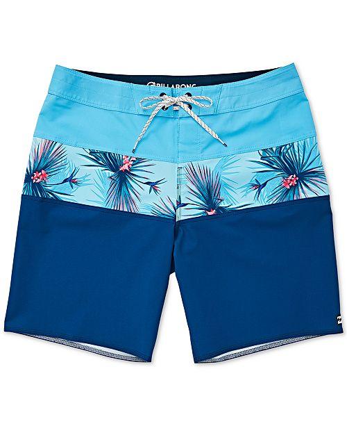Billabong Big Boys Colorblocked Tropical Swim Trunks