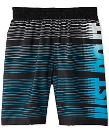 Nike Big Boys Just Do It Striped Swim Trunks