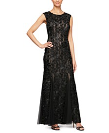 Alex Evenings Sleeveless Soutache Gown