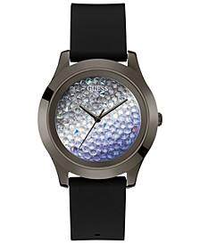 Women's Black Silicone Strap Watch 42mm