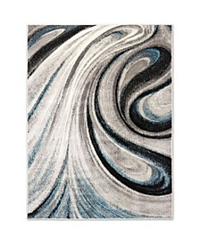 "Jano JAN04 Gray 7'9"" x 10'2"" Area Rug"