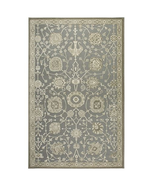 "Shabby Chic Chandler Aster Gray 7'10"" x 10'2"" Area Rug"
