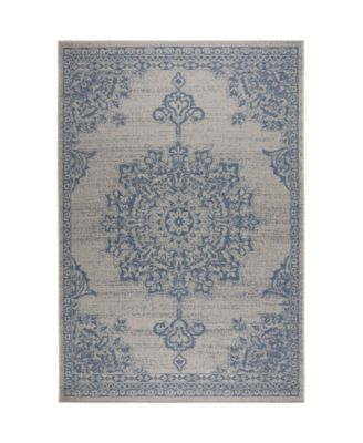 "Patio Country Azalea Gray 5'2"" x 7'2"" Area Rug"