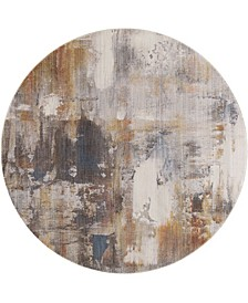 """Bridgeport Home Whitby WHI03 Gray 6'7"""" Round Area Rug"""