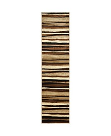 "CLOSEOUT! Global Rug Design Brighton BRI11 Brown 2'2"" x 18' Runner Area Rug"