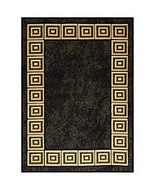 """Global Rug Design Vision VIS06 Black 7'8"""" x 10'4"""" Area Rug"""