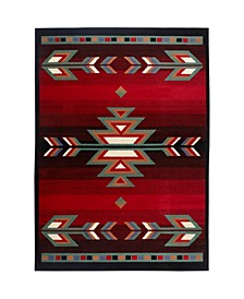 "Global Rug Design Choice CHO12 Black 7'8"" x 10'7"" Area Rug"