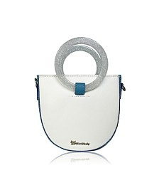 Milanblocks Circle Ring Handle Handbag Women Retro Leather Mini Crossbody Bag