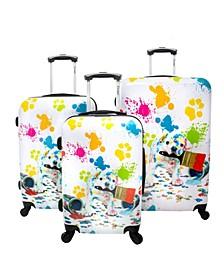 Paint 3-Piece Hardside Luggage Set
