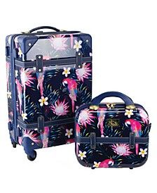 """Parrot 2 Piece 20"""" Carry-On and Beauty Case Set"""