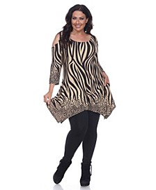 Plus Size Antonia Cut-Out Shoulder Tunic