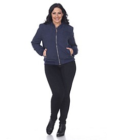 Plus Size Bomber Jacket