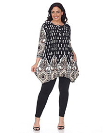 White Mark Plus Size Kairi Tunic/Top