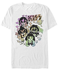 Kiss Men's Cute Little Rocker Bears Logo Short Sleeve T-Shirt