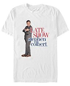 The Late Show Stephen Colbert Men's Logo Short Sleeve T-Shirt