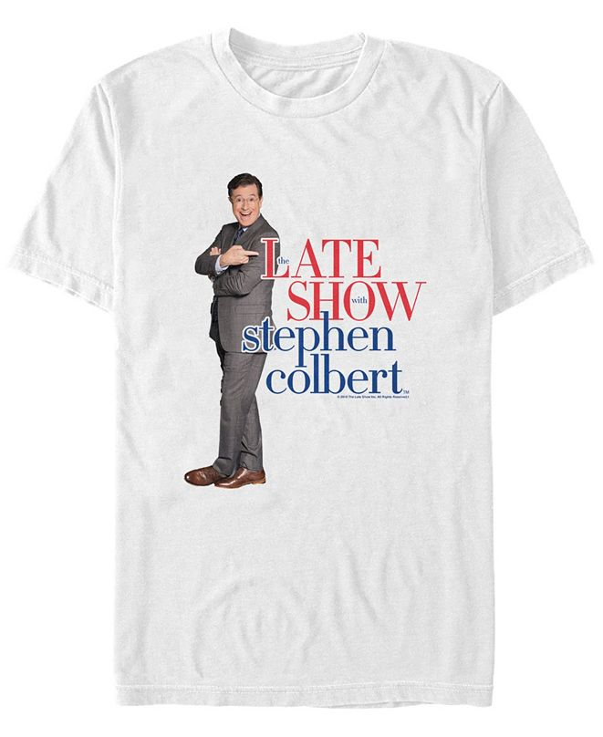 The Late Show Stephen Colbert Men's Logo Short Sleeve T-Shirt