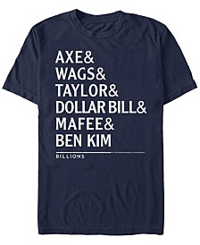 Billions Men's Axe And Crew Nicknames Short Sleeve T-Shirt
