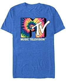 MTV Men's Vintage Tie-Dye Logo Short Sleeve T-Shirt