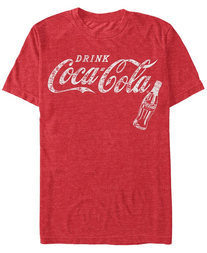 Coca-Cola Men's Retro Coke Bottle Short Sleeve T-Shirt