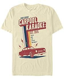 The Late Late Show James Corden Men's Retro Carpool Karaoke Short Sleeve T-Shirt
