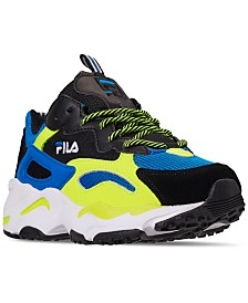 FILA Big Boys Ray Tracer Casual Sneakers from Finish Line