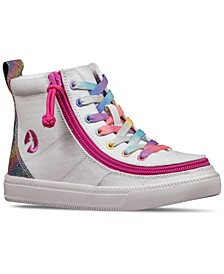 BILLY Little Girls Rainbow Classic Lace High Top Casual Sneakers from Finish Line