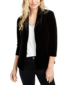 3/4-Sleeve Velvet Blazer, Created For Macy's