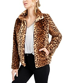 Leopard-Print Faux-Fur Jacket, Created For Macy's