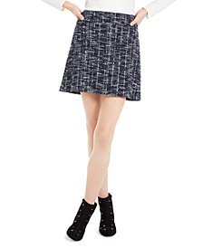 Maison Jules Plaid A-Line Mini Skirt, Created For Macy's
