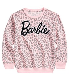 Barbie Big Girls Leopard-Print Sweatshirt