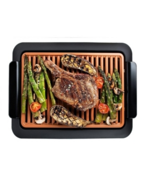 As Seen on Tv, the Gotham Steel Smokeless Grill provides an ingenious new way to cook and Bbq indoors without all that smoke. With a convenient temperature dial that maintains consistent heat across the entire surface, you get perfect grilling every time. The Smokeless Grill also features a heated grilling grate so oils and fats drip away into a pan where they are cooled, meaning healthier meat and no smoke. Food like bacon stays crisp, yet juicy, and with a lot less fat. Like all our Gotham Ste