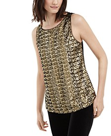 INC Sequined Tank Top, Created for Macy's