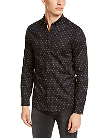 Men's Slim-Fit Stretch Logo Print Shirt
