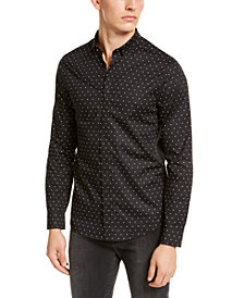 A|X Armani Exchange Men's Slim-Fit Stretch Logo Print Shirt