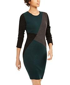 Juniors' Colorblocked Sweater Dress