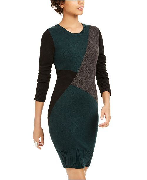 BCX Juniors' Colorblocked Sweater Dress