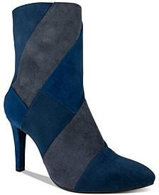 Casilda Mixed-Texture Boots