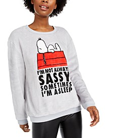 Juniors' Snoopy Plush Sweatshirt