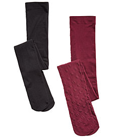 Trimfit Little & Big Girls 2-Pk. Opaque & Hearts Tights