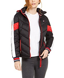 Varsity Striped Quilted Jacket