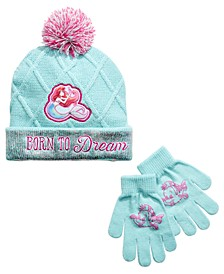 Big Girls 2-Pc. The Little Mermaid Princess Hat & Gloves Set